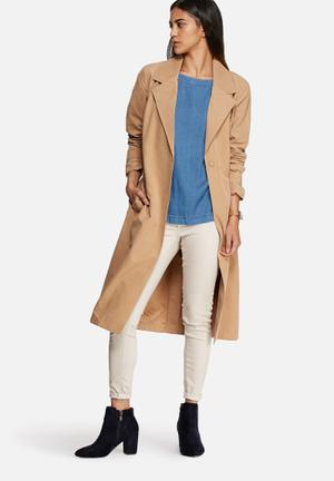 VILA Amal Trench Coat Camel