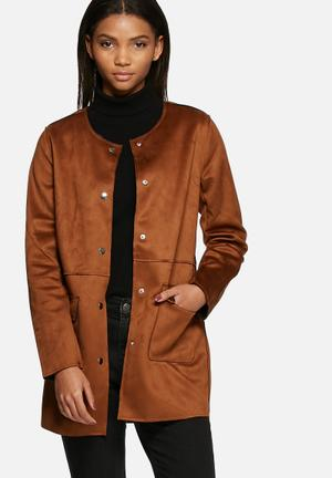 VILA Selina Jacket Brown