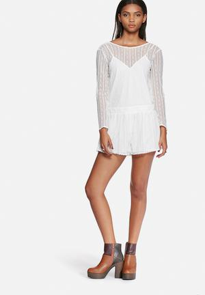 The Fifth Little Secrets Playsuit Ivory