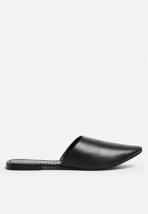 Vero Moda Christel Leather Mule Pumps & Flats Black