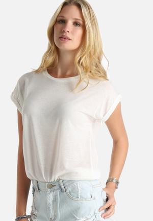 Dailyfriday Alex Essential BF Tee T-Shirts, Vests & Camis White