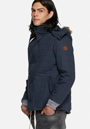 Native Youth Quilted Icelandic Parka Jackets Navy