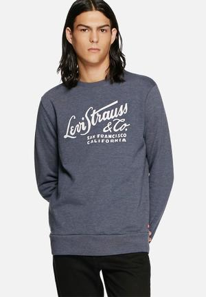 Levi's® Graphic Sweat Hoodies & Sweatshirts Blue