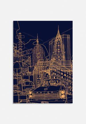 David Bushell New York! Night Art