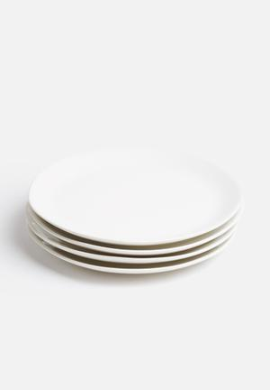 Urchin Art Set Of 4 Side Plates Dining & Napery White
