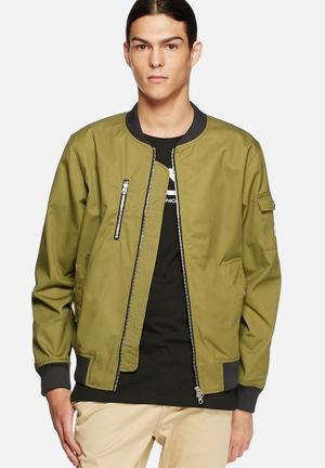 WeSC The Bomber Jackets Moss Green