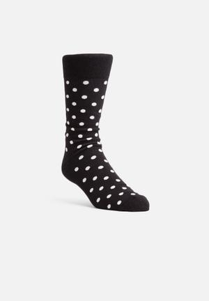 Happy Socks Dot Sock Black