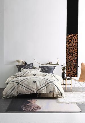 Linen House Tahoma Ivory Duvet Cover Set Bedding 100% Cotton