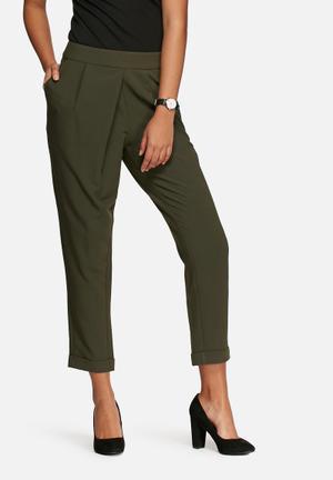 VILA Data Pants Trousers Green