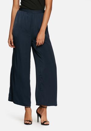 VILA Passa Flared Pants Trousers Navy