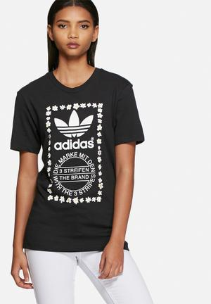 Adidas Originals Pharrell Williams Graphic Tee T-Shirts Black
