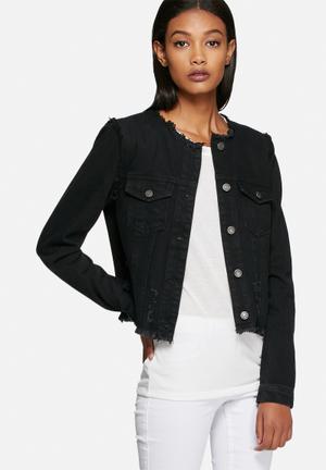 Vero Moda Miri Denim Destroy Jacket Black