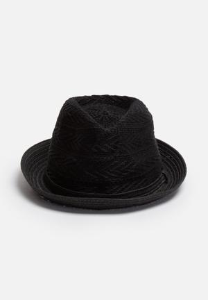 ONLY Elo Straw Hat Headwear Black