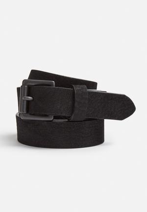 Selected Homme Kim Leather Belt  Black