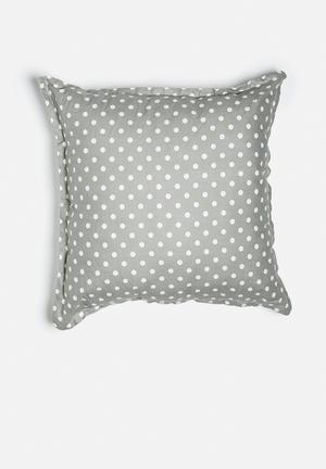 Grey Gardens Dot Cushion Polyester / Cotton Mix