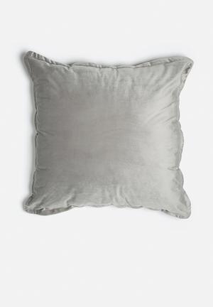 Grey Gardens Soft Velvet Cushion Polyester / Cotton Mix