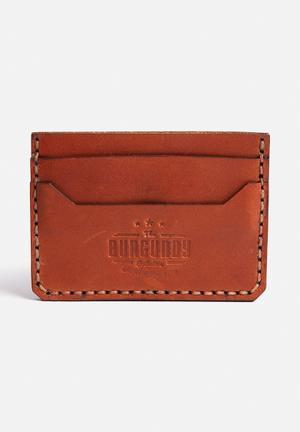 Burgundy Minimalist Wallet Brown