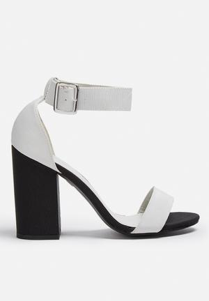 ONLY Aggy Heels Soft Grey & Black
