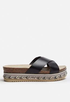 Vero Moda Rio Leather Sandal Black