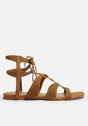 Vero Moda Mille Leather Sandal Tan