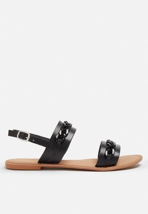Vero Moda Bianca Leather Sandal Black