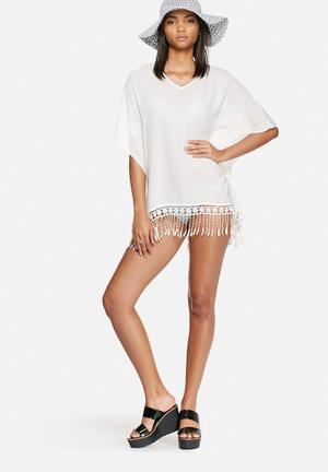 Vero Moda Ponch Poncho Swimwear White