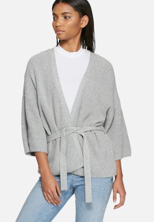VILA Beaton Cardigan Knitwear Grey