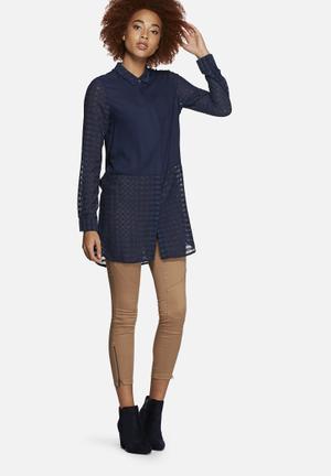 Vero Moda Camella Long Shirt Navy