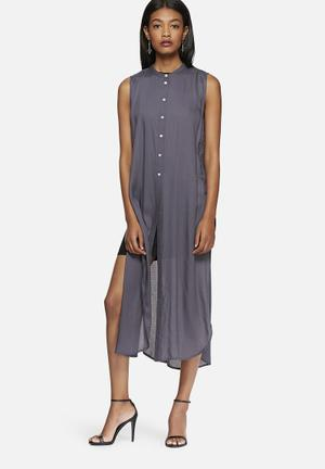 Vero Moda Meshy Long Shirt Blue