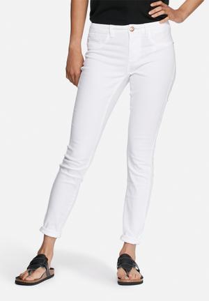 Jacqueline De Yong Five Pants Trousers White
