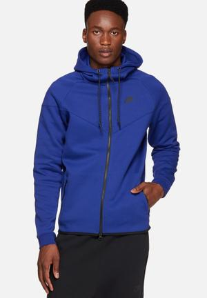 Nike Tech Fleece Windrunner Hoodies & Sweatshirts Blue