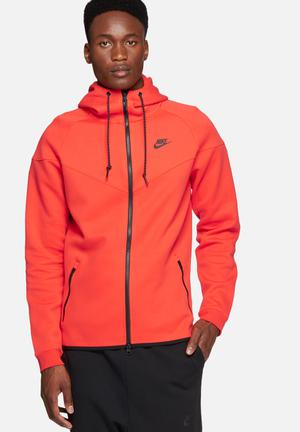 Nike Tech Fleece Windrunner Hoodies & Sweatshirts Red