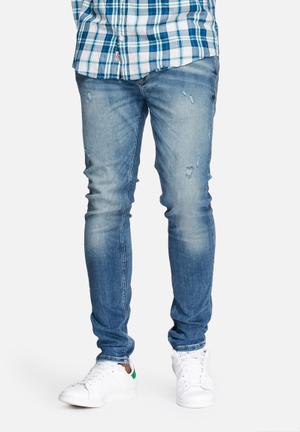 Jack & Jones Jeans Intelligence Liam Skinny Jeans Blue