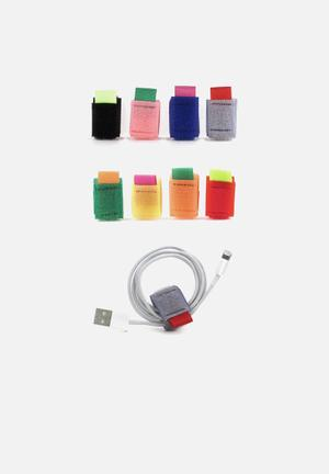 Kikkerland Colour Cable Ties Phone Accessories & USBs Velcro & Nylon