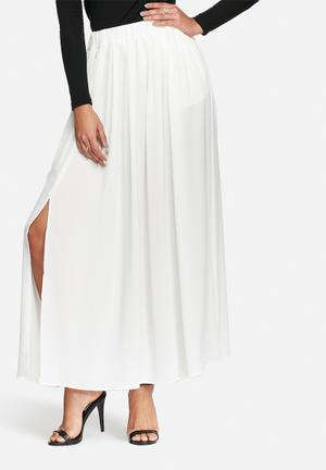 ONLY Smart Maxi Pleated Skirt  Cream