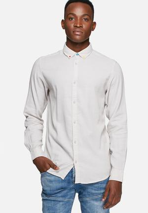 Jack & Jones Originals Button Slim Shirt Grey