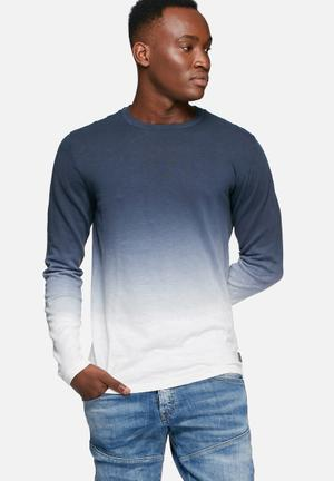 Jack & Jones Originals Dyed Knit Top Knitwear Navy