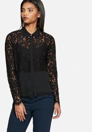 Vero Moda Olivia Lace Shirt Black