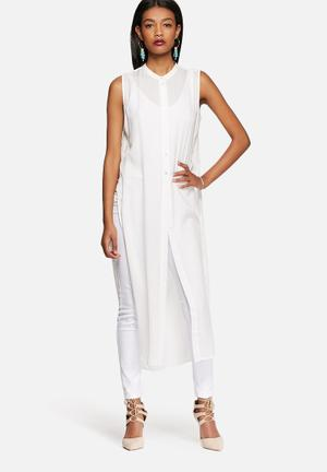 Vero Moda Meshy Long Shirt White