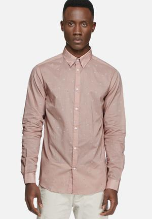 Selected Homme Aden Regular Shirt Pink