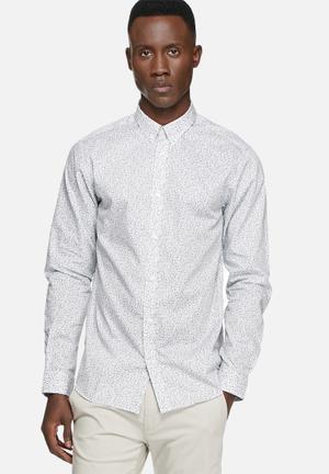 Selected Homme Andre Regular Shirt White & Green