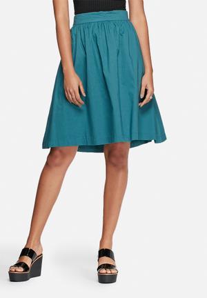 Vero Moda Miri High-waisted Skirt Green