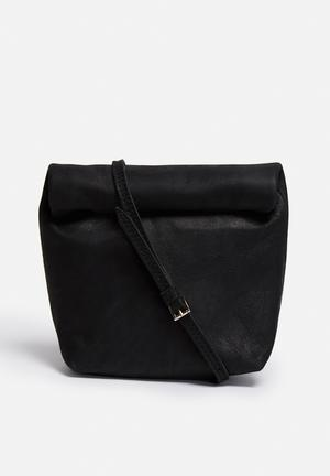 FSP Collection Rollover Crossbody Bags & Purses Black
