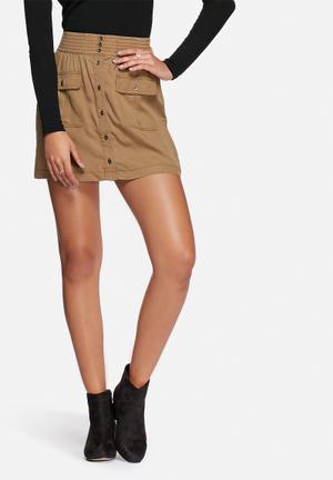 ONLY Arizona Cargo Skirt Brown