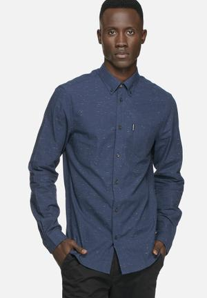 Ben Sherman Textured Oxford Shirt Navy
