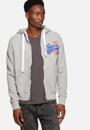 Superdry. Japan Stars Hoodie Hoodies & Sweatshirts Grey