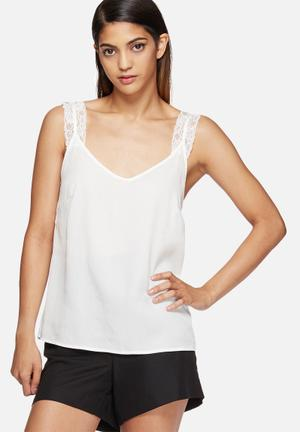 Vero Moda Monsoon Singlet T-Shirts, Vests & Camis White