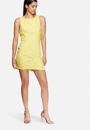New Look Lace Bodycon Dress Occasion Yellow