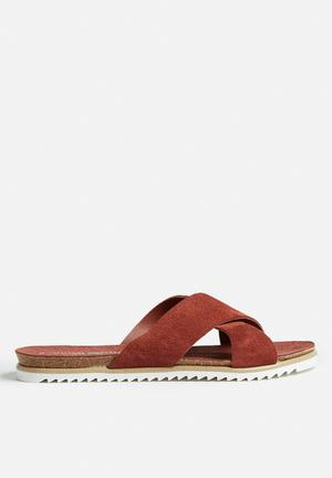 Vero Moda Emalie Leather Sandal Brown
