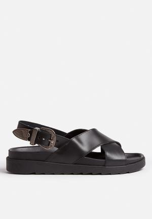 Vero Moda Madeline Leather Sandal Black